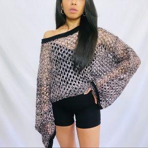 I.AM.GIA | Long Sleeve Knit Crochet Top